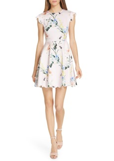 Ted Baker London Karsali Elegance Scallop Skater Dress