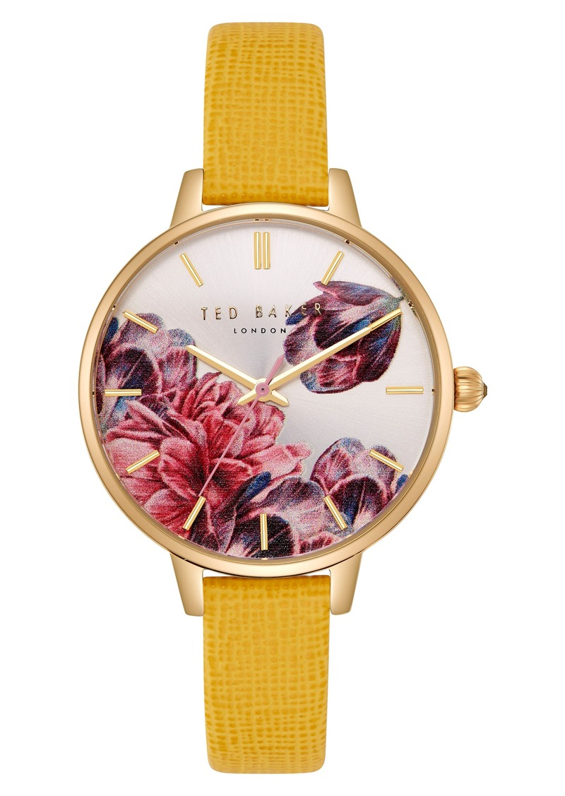 2ef5a96378e3 Ted Baker Ted Baker London Kate Leather Strap Watch