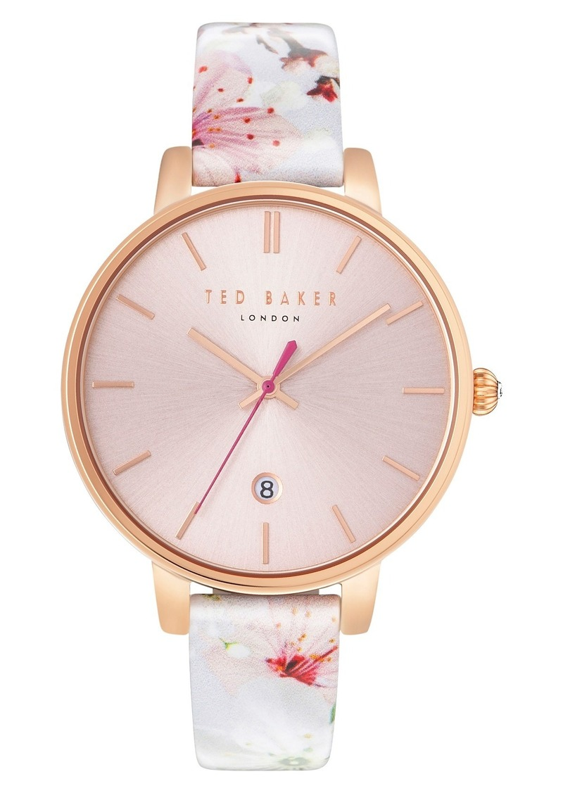 87583376a Ted Baker Ted Baker London Kate Round Leather Strap Watch, 38mm ...