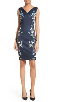 Ted Baker London Katiey Placed Print Sheath Dress