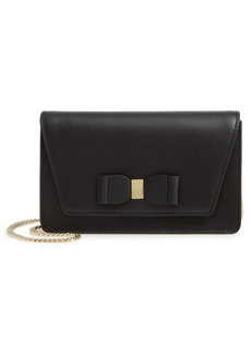Ted Baker London Keeiira Bow Leather Evening Bag