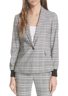Ted Baker London Ted Working Title Kimm Contract Cuff Check Blazer