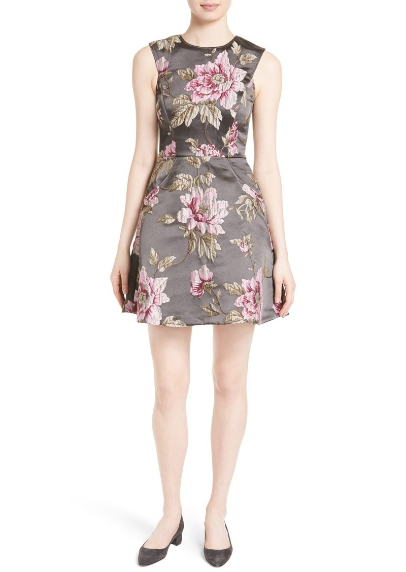 SALE! Ted Baker Ted Baker London Kinella Floral Jacquard Skater Dress db3ba21c6