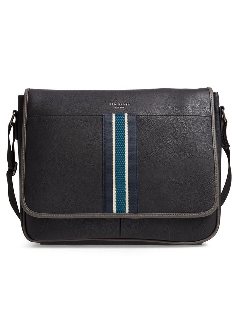 SALE! Ted Baker Ted Baker London Kingcol Faux Leather Messenger Bag 029de3ff55bc3