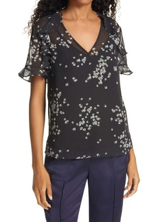 Ted Baker London Kleaa Floral Print Top
