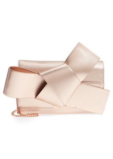 Ted Baker London Knotted Bow Leather Clutch