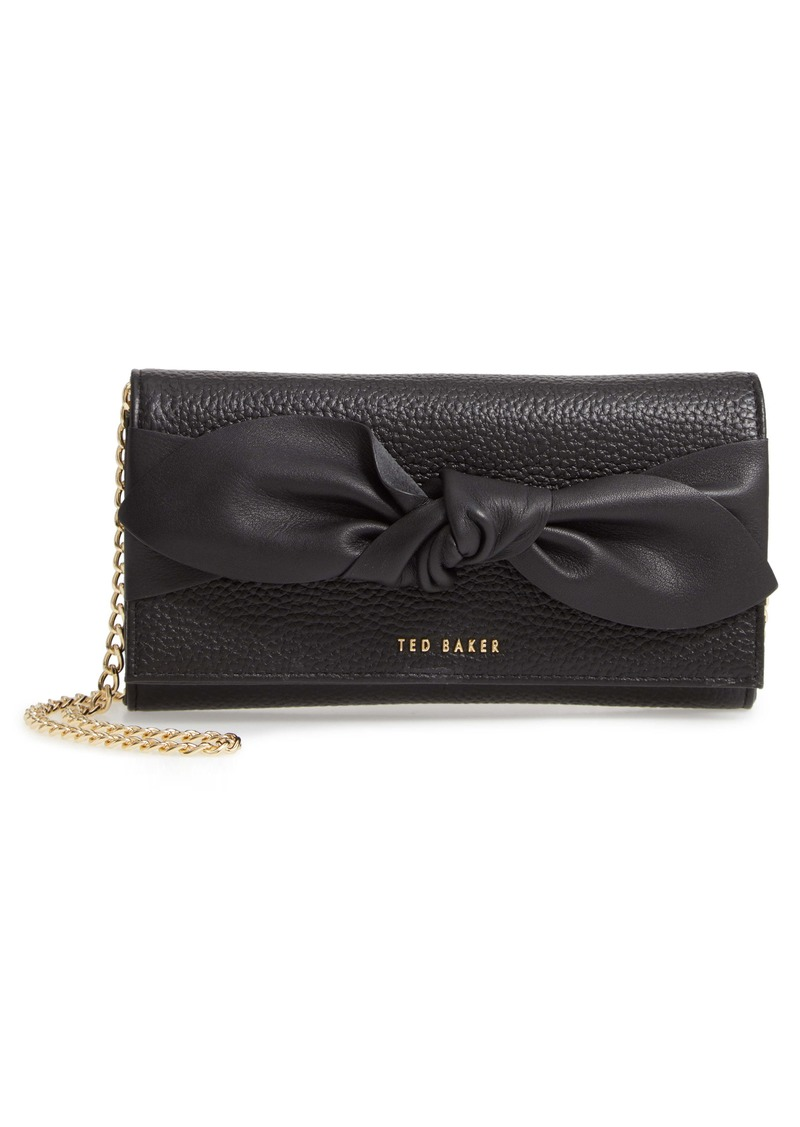 Ted Baker London Knotted Bow Leather Wallet on a Chain