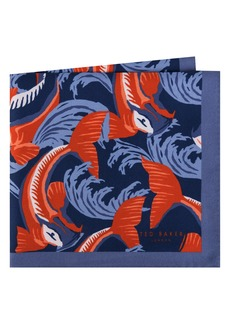Ted Baker London Koi Fish Silk Pocket Square