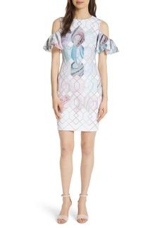 Ted Baker London Krimba Sea of Clouds Sheath Dress