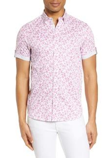 Ted Baker London Krosa Slim Fit Short Sleeve Button-Up Shirt
