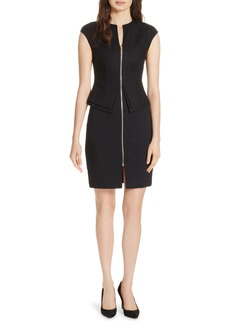 Ted Baker London Kwyli Structured Peplum Body-Con Dress
