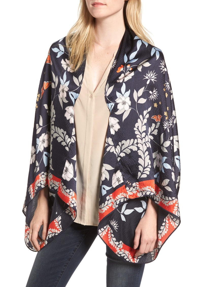 4d7b56ff9 Ted Baker Ted Baker London Kyoto Gardens Silk Cape Scarf Now  123.95