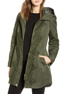 Ted Baker London Lace Detail Hooded Parka