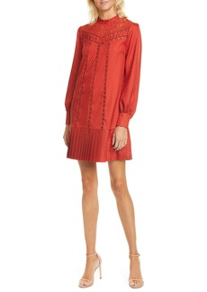 Ted Baker London Lace Inset Long Sleeve Dress