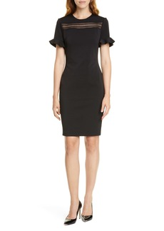 Ted Baker London Lace Inset Sheath Dress