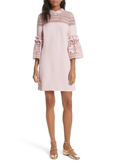 Ted Baker London Lace Panel Bell Sleeve Tunic Dress
