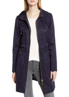 Ted Baker London Lace Trim Hooded Parka