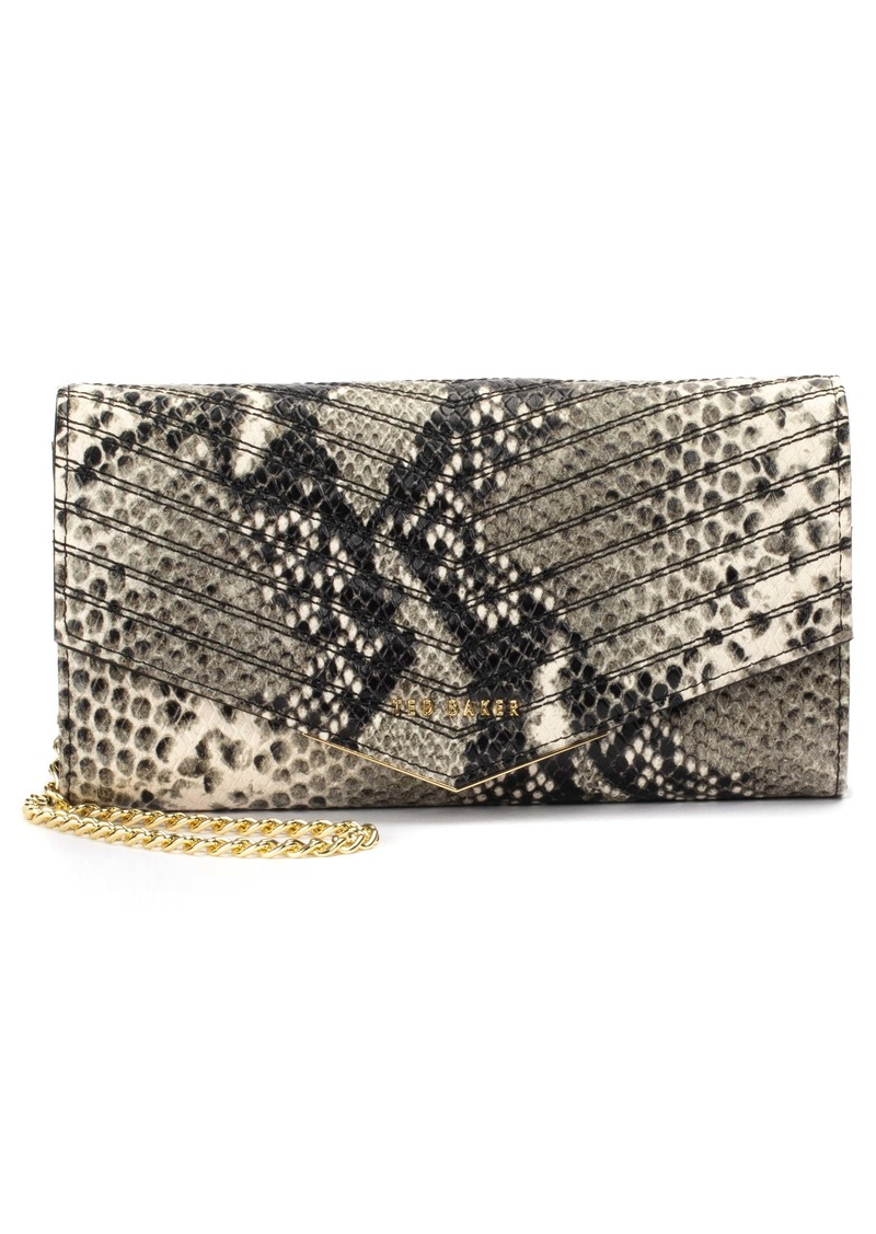 Ted Baker London Ladora Exotic Quilted Wallet on a Chain
