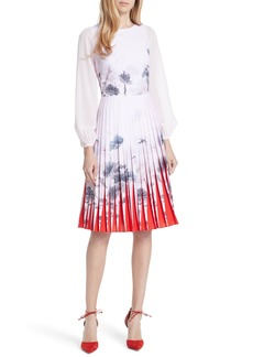 Ted Baker London Lake of Dreams Pleated Dress
