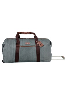 Ted Baker London 'Large Falconwood Grey' Rolling Duffel Bag (29 Inch)