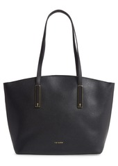 Ted Baker London Large Sheriee Curved Leather Shopper & Pouch