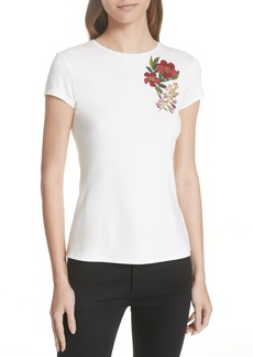 Ted Baker London Laylar Kirstenbosch Embroidered Tee