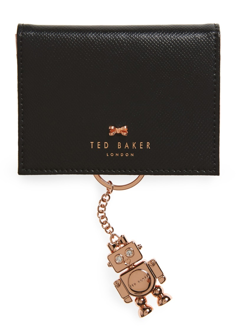 hot sale online 74799 f7665 London Leather Card Case with Robot Key Chain