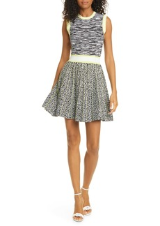 Ted Baker London Lebiiey Mixed Animal Pattern Skater Dress