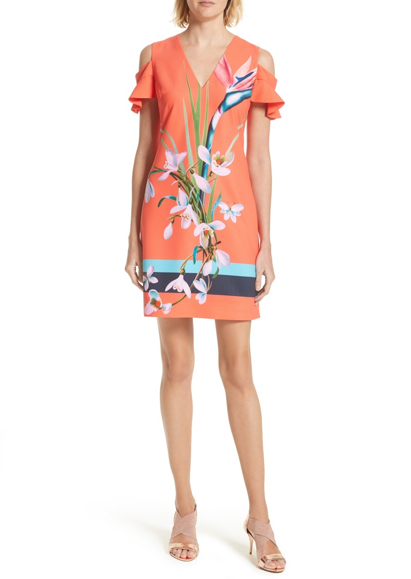 8853bbe9d Ted Baker Ted Baker London Leea Cold Shoulder Shift Dress Now  111.60