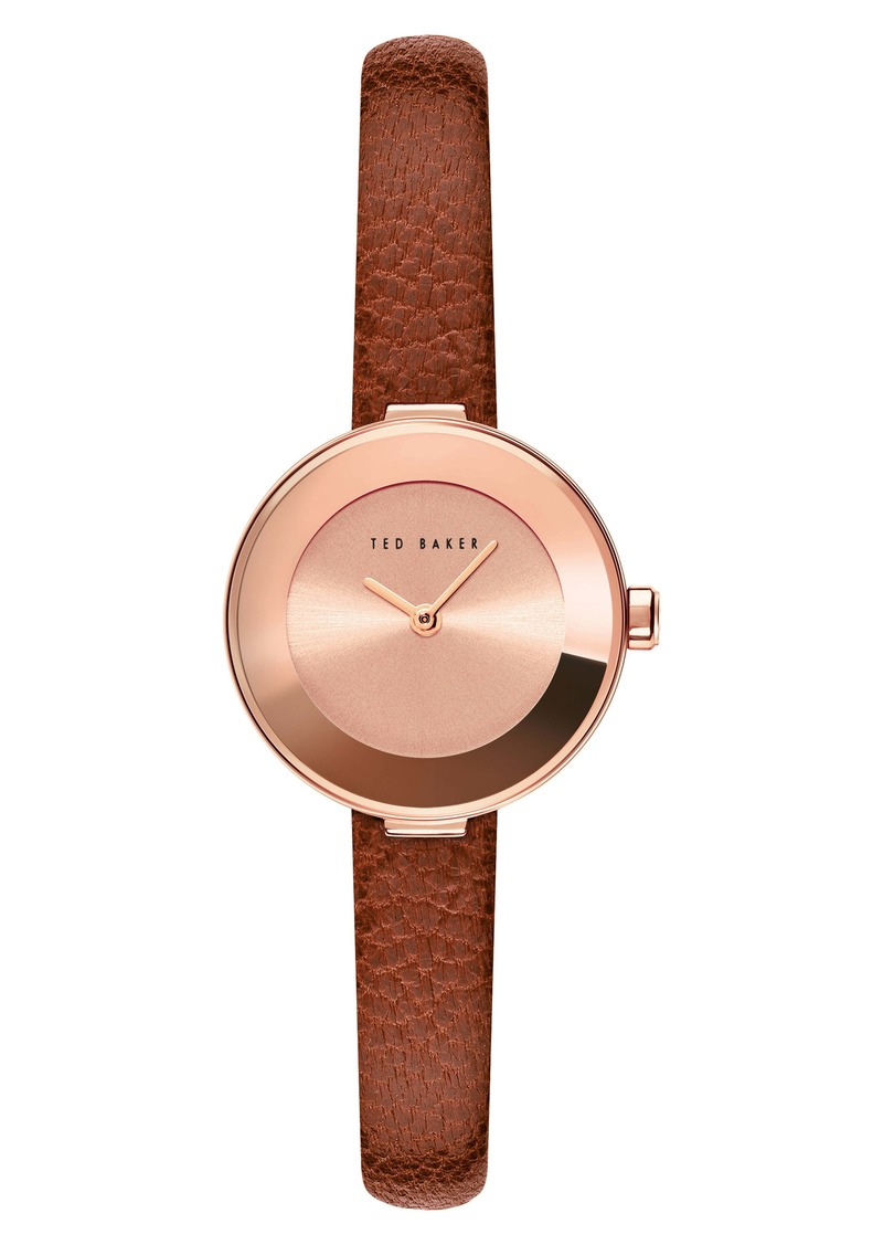 Ted Baker London Lenara Leather Strap Watch, 28mm