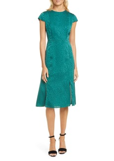 Ted Baker London Leopard Jacquard Dress