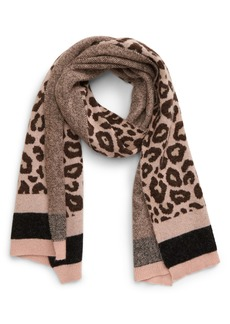 Ted Baker London Leopard Pattern Knit Scarf
