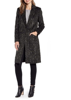 Ted Baker London Illena Leopard Print Cocoon Coat