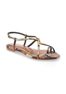 Ted Baker London Lerinas Snake Embossed Sandal (Women)