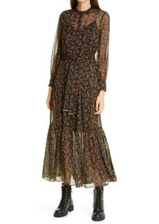 Ted Baker London Lettii Deco Print Long Sleeve Dress