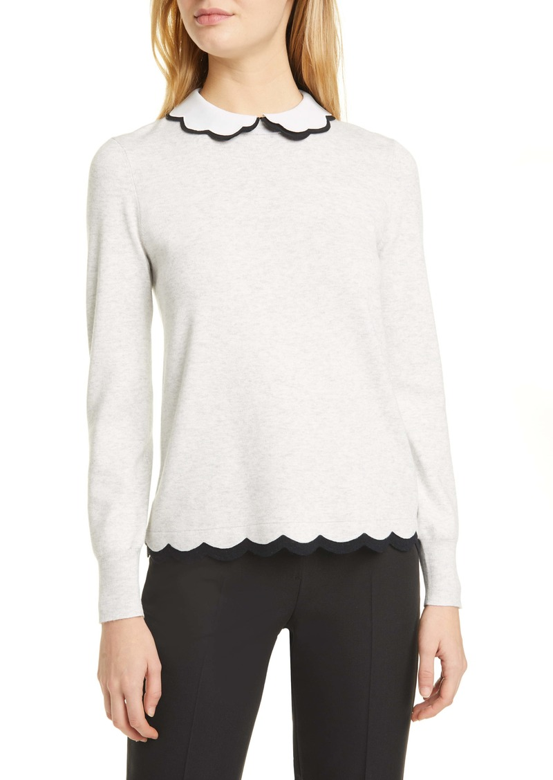 Ted Baker London Lheo Scallop Detail Layered Sweater
