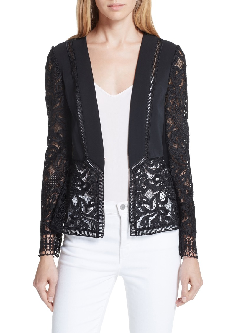 4267c78b27d423 Ted Baker Ted Baker London Liela Sheer Lace Panel Jacket
