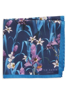 Ted Baker London Lily Floral Silk Pocket Square