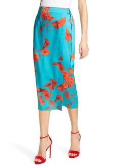 Ted Baker London Lilyy Fantasia Split Hem Midi Skirt