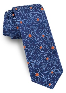 Ted Baker London Linear Flower Silk Tie