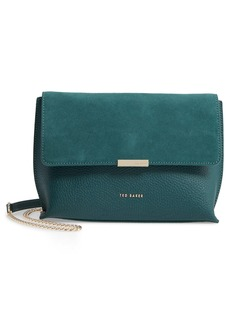 Ted Baker London Lisa Bar Detail Suede & Leather Crossbody Bag
