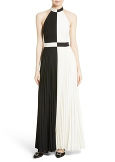 Ted Baker London Lixia Pleated Maxi Dress