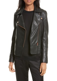 Ted Baker London Lizia Leather Biker Jacket