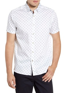Ted Baker London Lliam Slim Fit Short Sleeve Button-Up Shirt