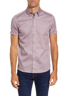 Ted Baker London Lliam Slim Fit Short Sleeve Button-Up Shirt