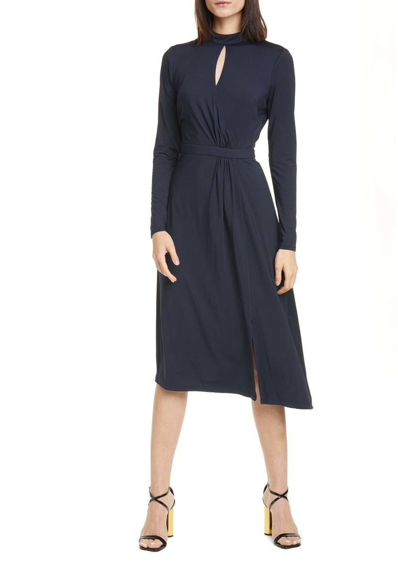 Ted Baker London Long Sleeve Asymmetrical Dress