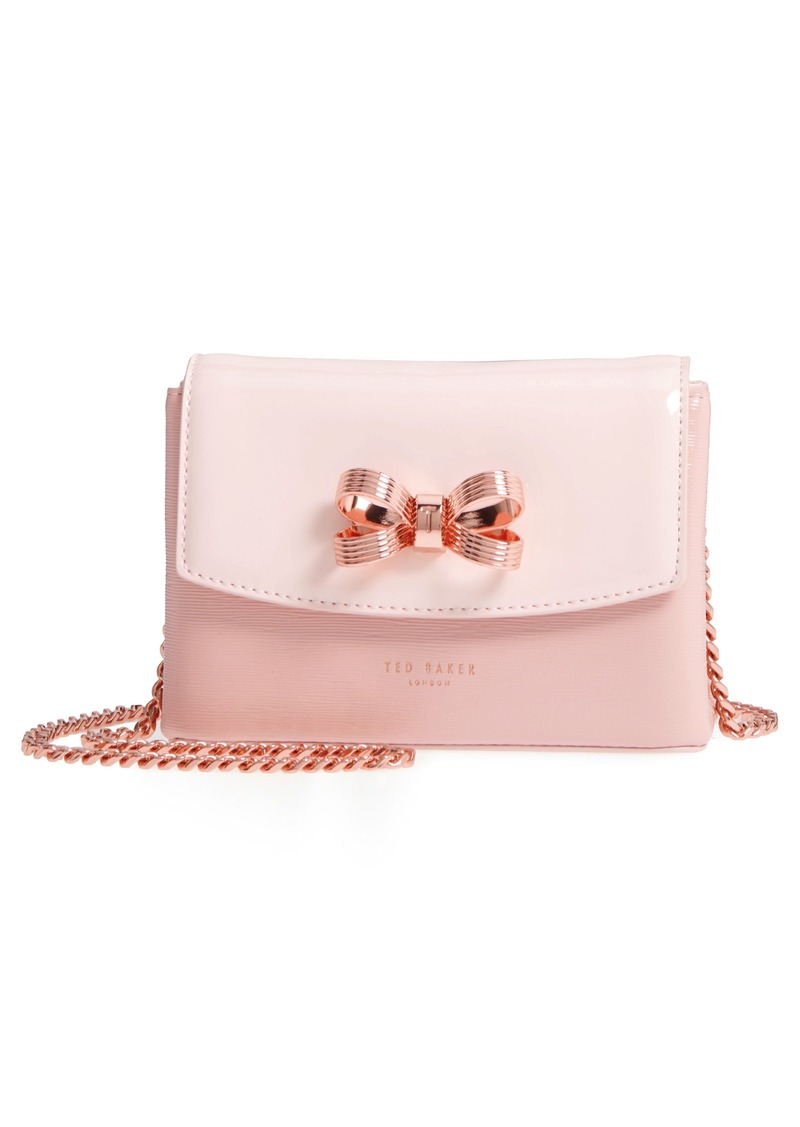 437eb2ba4 Ted Baker Ted Baker London Loopa Bow Mini Leather Crossbody Bag Now ...
