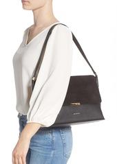 Ted Baker London Louissa Bar Detail Suede & Leather Shoulder Bag