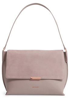 Ted Baker London Louissa Bar Detail Suede & Leather Shoulder Bag