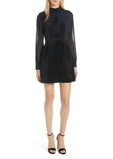 Ted Baker London Lourah Georgette Sleeve Velvet Minidress